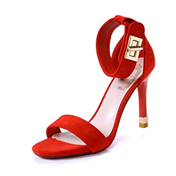 Home Con Art Shoes Sandalias Un Rojas Botón zhang's Solo Women's Mr vOmN8wn0