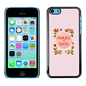 LASTONE PHONE CASE / Carcasa Funda Prima Delgada SLIM Casa Carcasa Funda Case Bandera Cover Armor Shell para Apple Iphone 5C / Cool Awake Soul Inspiring Spring Flowers Peach