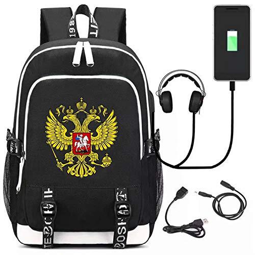 Russian Emblem Backpack Bags Girls Backpack Canvas Rucksack Laptop Satchel Hiking Bag