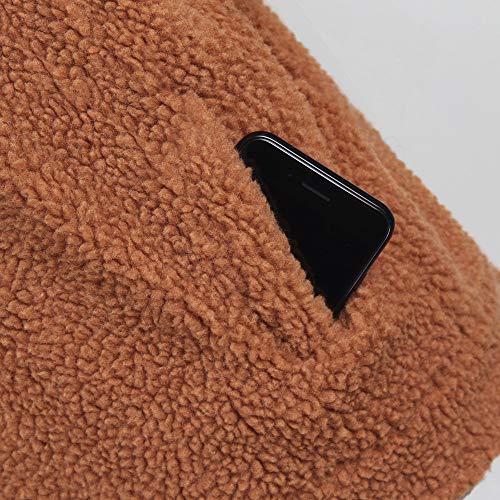 Leey Cappotto Parka Felpe invernale donna pelliccia Giacche sintetica Windbreaker Soprabito cappuccio Lungo con Tumblr Donna Caldo ragazza da Cappotto Marrone Outwear Magliette rgrA6p