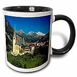 3dRose Danita Delimont - Austrian Alps - Austria, Heiligenblut, Hohe Tauern Alps -EU03 RER0000 - Ric Ergenbright - 11oz Two-Tone Black Mug (mug_69911_4)