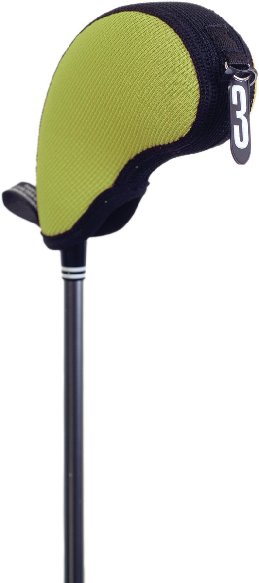 Stealth Club Covers 17120 Hybrid Pocket Mini ID 3-4-5-X Golf Club Head Cover, Wasabi Green/Black by STEALTH Club Covers (Image #1)