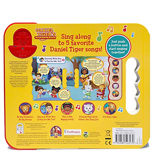 Daniel Tiger's Friendly Songs (5 Button Early Bird Sound