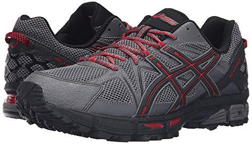 ASICS Men's Gel-Kahana 8 Trail Runner, Shark/Black/True Red, 12.5 M US
