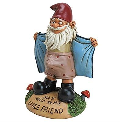 Garden Gnome Pervert - Scarface Statue Yard office Outdoor Sculpture-Figurine
