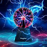 Plasma Ball, Theefun 8 Inch Touch & Sound Sensitive Plasma Lamp, Nebula Sphere Plasma Globe Novelty Toy for Decorations/Kids/Bedroom