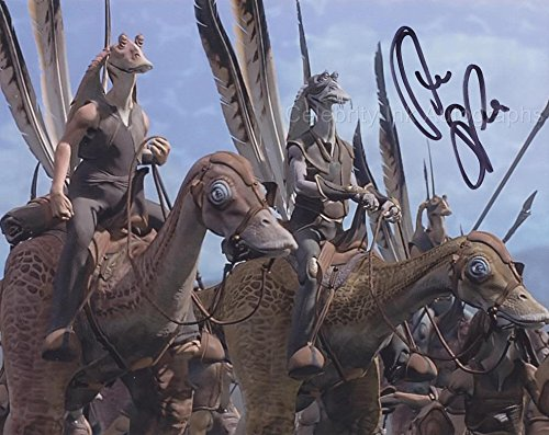 STEVE SPEIRS as the present of Captain Tarpals - Star Wars: Episode I GENUINE AUTOGRAPH