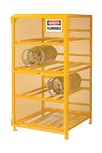 Little Giant GSH-36W-40H Yellow Gas Cylinder Storage Unit, 36