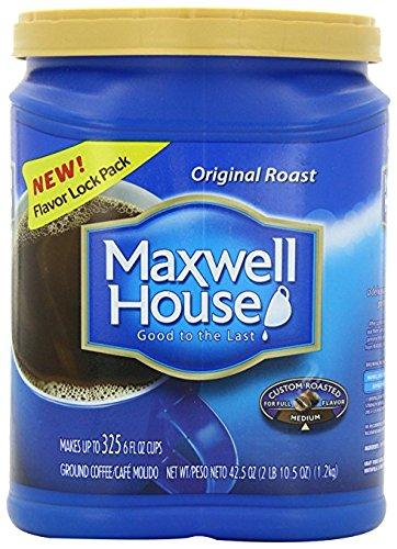 Maxwell House Original Roast Good to the Last, 42.5 Ounce 2 packs