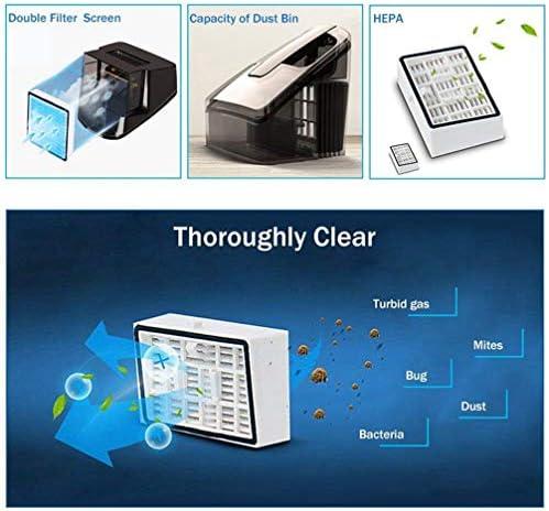 MLAH Aspirateur UV Portatif Anti-Acariens, Instrument De Nettoyage Antibactérien pour Aspirateur UV Domestique,Blanc