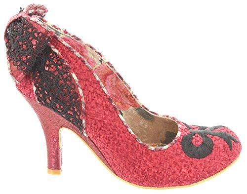 Irregular Choice - Zapatos de vestir de tela para mujer 52 Rojo - rojo