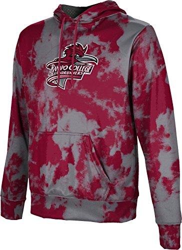 ProSphere Ramapo College of New Jersey Boys' Pullover Hoodie, School Spirit Sweatshirt (Grunge) FD002 Red and Gray