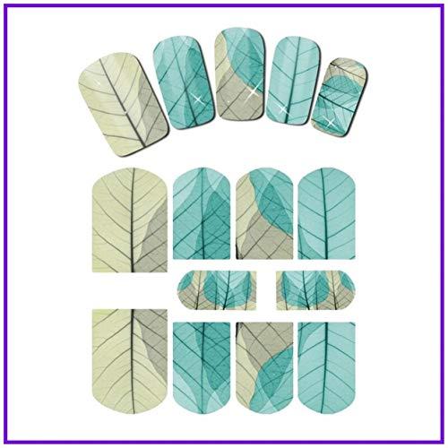 1 Pc Flower Vine Leaf Tree Branch Nail Art Decals Brainy Popular Nails Sticker Tattoo Gel Adhesive Design Girls Kit Sky Starry Halloween Decor, Type-02]()