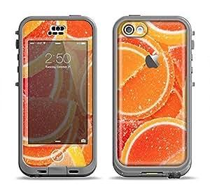 The Orange Candy Slices Apple iPhone 5C LifeProof Nuud Black Case and Skin Set (Black LifeProof Case Included!)