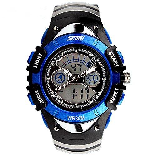 Watches,Kids Outdoors Waterproof Wristwatch,Multifunctional LED Digital Watch for Boys