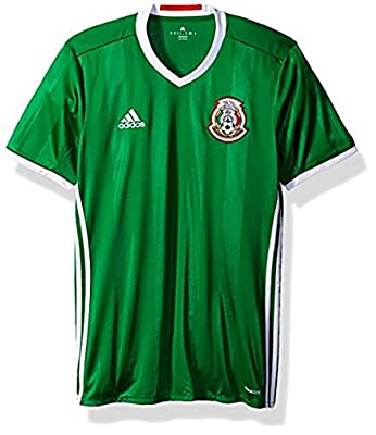 adidas Men's Mexico 16/17 Home Green/Red/White Jersey