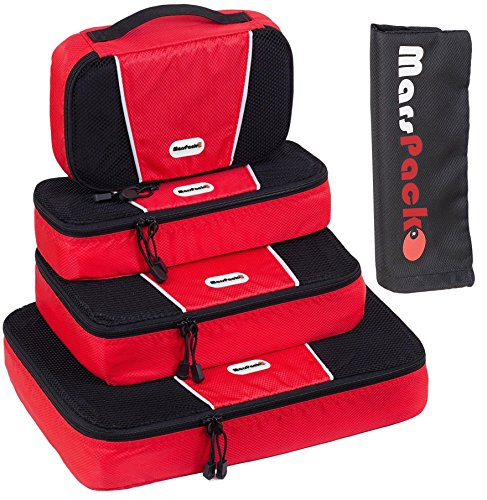 Waterproof 5-Piece Packing Bags (Red) - 2