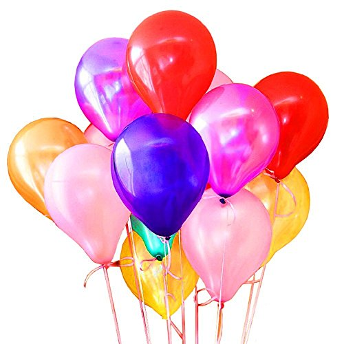 200 Pcs Color Latex Balloons, 10 Inches Assorted Celebration Balloons for Birthday / Wedding / Decoration / Christmas Party / Events balloons