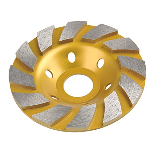 QLOUNI 4 Inch Double Row Grinder Wheel Cup Concrete Turbo Diamond Grinding-Wheel with A Gasket (Wheel Epoxy)