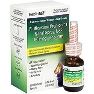 HealthA2Z Fluticasone Propionate Nasal Sprays, 24 Hour Allergy Relief,120 Spray