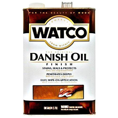 (Watco 65931 Danish Oil, Medium Walnut ~ 1 Gallon by Rust-Oleum)