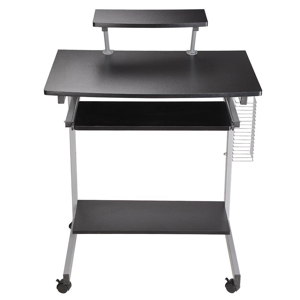 Amazon.com: Yescom Mobile Computer Desk Compact Student Laptop ...