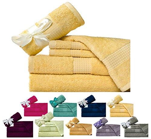 Weavely Cotton  6 Piece Bath Towel Set, Hotel & Spa Quality
