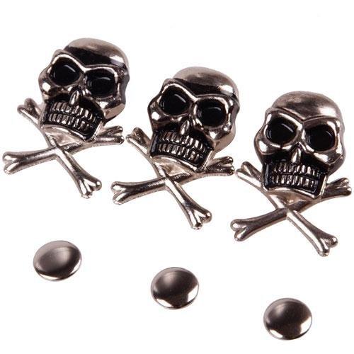 10Pcs 15mm Cool Skull Ghost Rivet Stud Punk for Bracelet Bag Leather DIY Craft Hittime