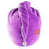 YoulerTex Microfiber Hair Towel Wrap for Women, 2