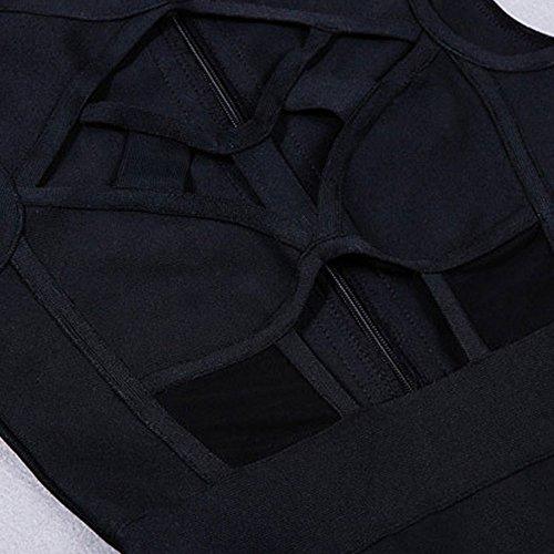 HLBandage Neutraler ärmel Verband Kunstseide Brust Kleid Schwarz Öffnen 7ZOnBZqa