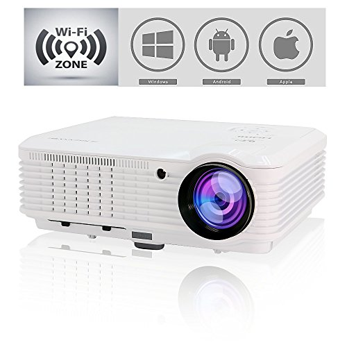 "Video Projectors WiFi Wireless, 200"" Android Home Cinema ..."