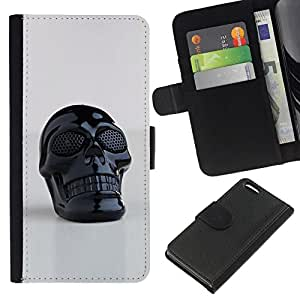 All Phone Most Case / Oferta Especial Cáscara Funda de cuero Monedero Cubierta de proteccion Caso / Wallet Case for Apple Iphone 5C // 3D Printed Plastic Skull Death Black