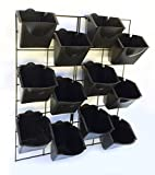 """Stratco Vertical Wall Garden Planter Kit with 12 Pots - Metal Frame Size 22"""" W by 26"""" H - Pot Size 6"""" W x 8"""" H - Durable for Indoor or Outdoor Gardening"""