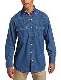 Key Apparel mens big-tall Long Sleeve Western Snap Denim Shirt Big/Tall