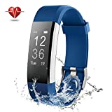 Fitness Tracker - NOVETE Activity Tracker with Heart Rate Monitor - IP67 Waterproof Bluetooth Smart Watch - Wireless Smart Bracelet with Sleep Monitor Pedometer Wristband for Android and iOS Smartphone