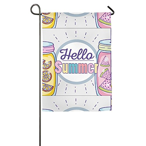 (Destiny'S Flag Personalized Garden Flag - Hello Summer Lemonade Flag 12.5 x 18 Inches)