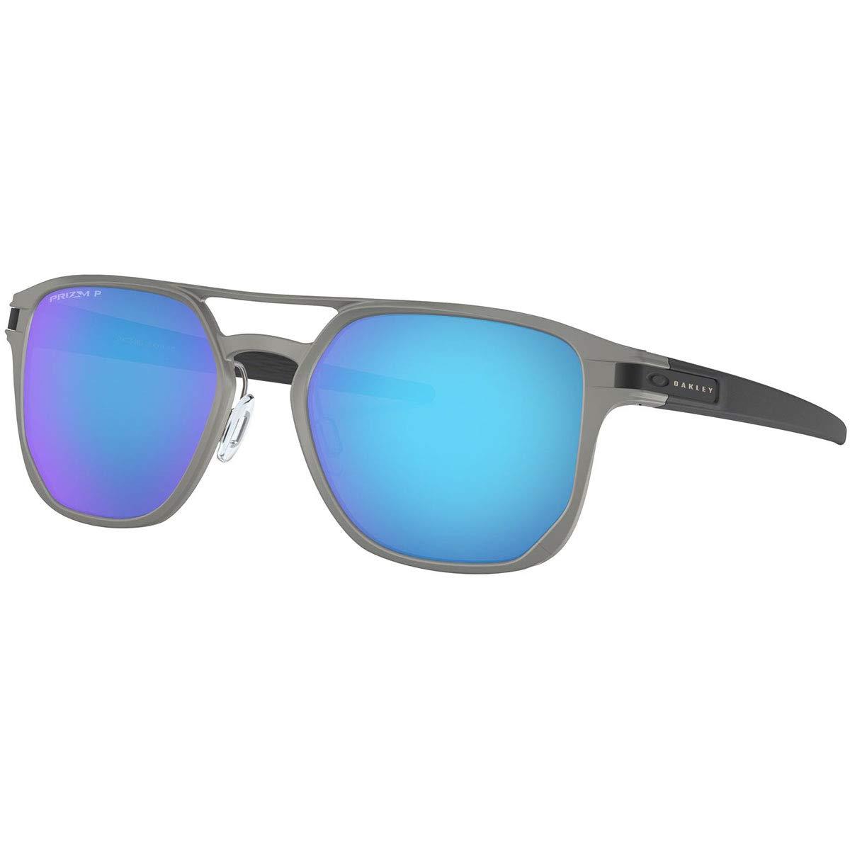 Oakley Men's Latch Alpha Sunglasses,One Size,Silver/Blue by Oakley