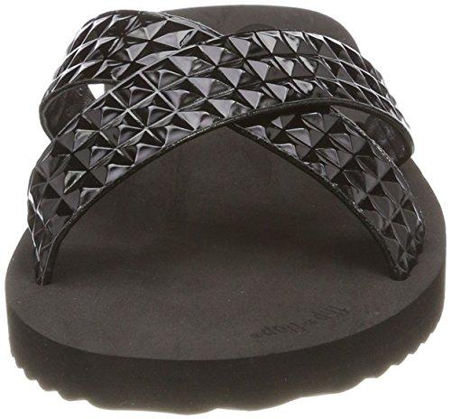 flop 0000 Tile Bout Cross Ouvert Black flip Noir Femme qnpdOTxxwZ