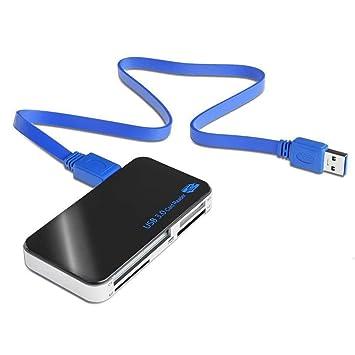 Lector de tarjetas USB 3.0 de alta velocidad, compact flash / microdrive / SD / SDHC / Micro SD / CF / MS / MS Pro / MS Pro para tarjeta Duo / XD ...