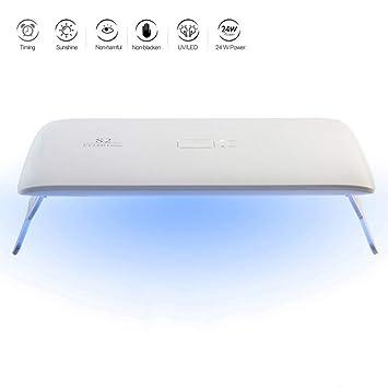 Xianxian88 Secador de uñas, luz Solar LED fototerapia portátil Plegable y de Secado rápido UV