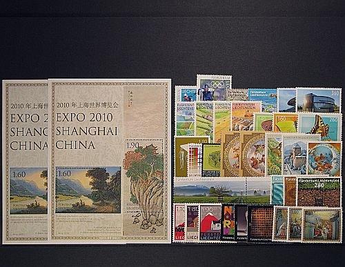 Goldhahn Liechtenstein Jahrgang 2010 postfrisch  Briefmarken für Sammler