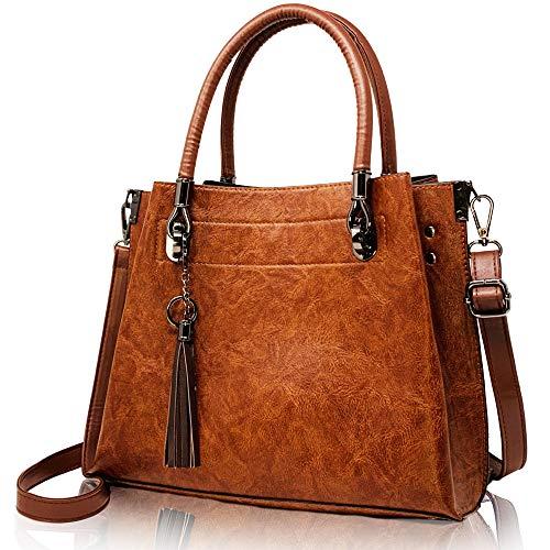 Tassel and Charm Top Handle Women Handbag and Purses