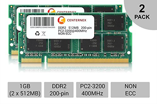 1GB 2 x 512MB DDR 2 Laptop Modules 3200 400 Notebook 200p 200-pin Memory Ram Lot by CENTERNEX