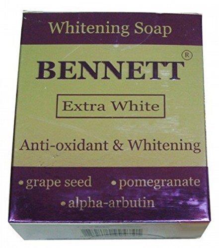 Antioxidant Rich Pomegranate Extract - Bennett Extra White Whitening Soap Anti-oxidant Rich Grape Seed Extract, Pomegranate Extract and Alpha Arbutin 130 G by Bennett