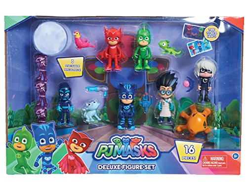 [Just Play PJ Masks Deluxe Figure Set Toy Figure (Includes Ninjalinos)] (Villain Mask)