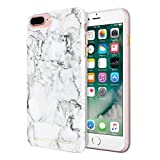 Rebecca Minkoff iPhone 7 Plus Case, Double Up Designer Phone Case [Protective] fits iPhone 7 Plus - Marble Print Silver Foil