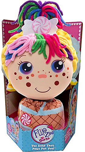 Flip Zee Girls Zandy Candy Sweet and Cuddly 2-in-1 Plush Doll