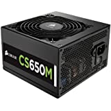 Corsair CS Series, CS650M, 650 Watt (650W), Semi Modular Power Supply, 80+ Gold Certified