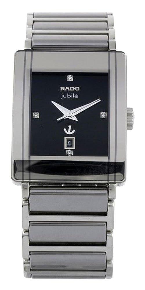 cc5c426e5 Rado Integral Jubile Automatic Platinum Tone Ceramic Mens Watch Calendar  R20693722: Amazon.co.uk: Watches