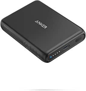 Anker Magnetic Wireless Portable Charger, PowerCore Magnetic 5K Wireless 5,000mAh Power Bank with USB-C Cable, Design for iPhone 12/12 Pro / 12 Pro Max / 12 Mini